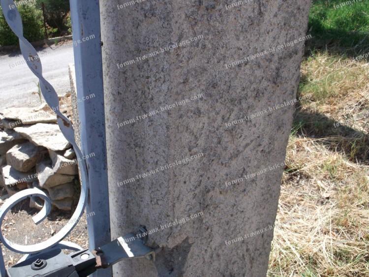 angle pilier de portail arraché