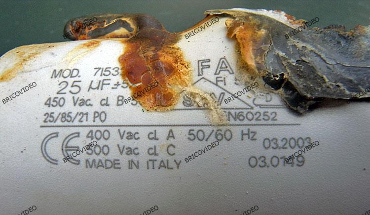 électricité condensateur HS