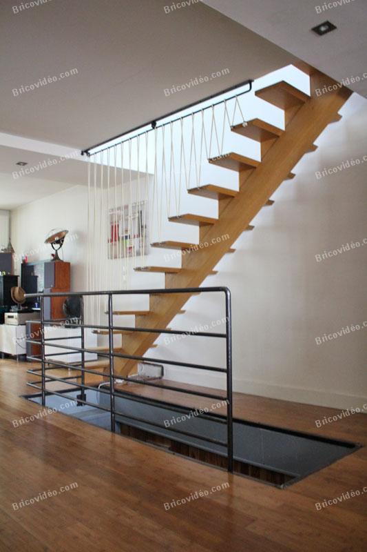 garde corps escalier bois