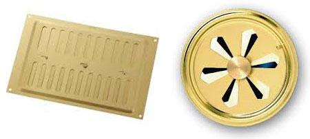 grilles d'aération pour plancher