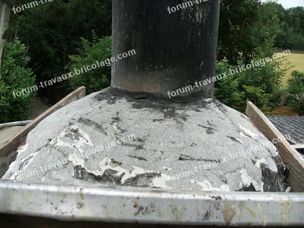 Infiltrations d'eau au niveau de ma cheminée