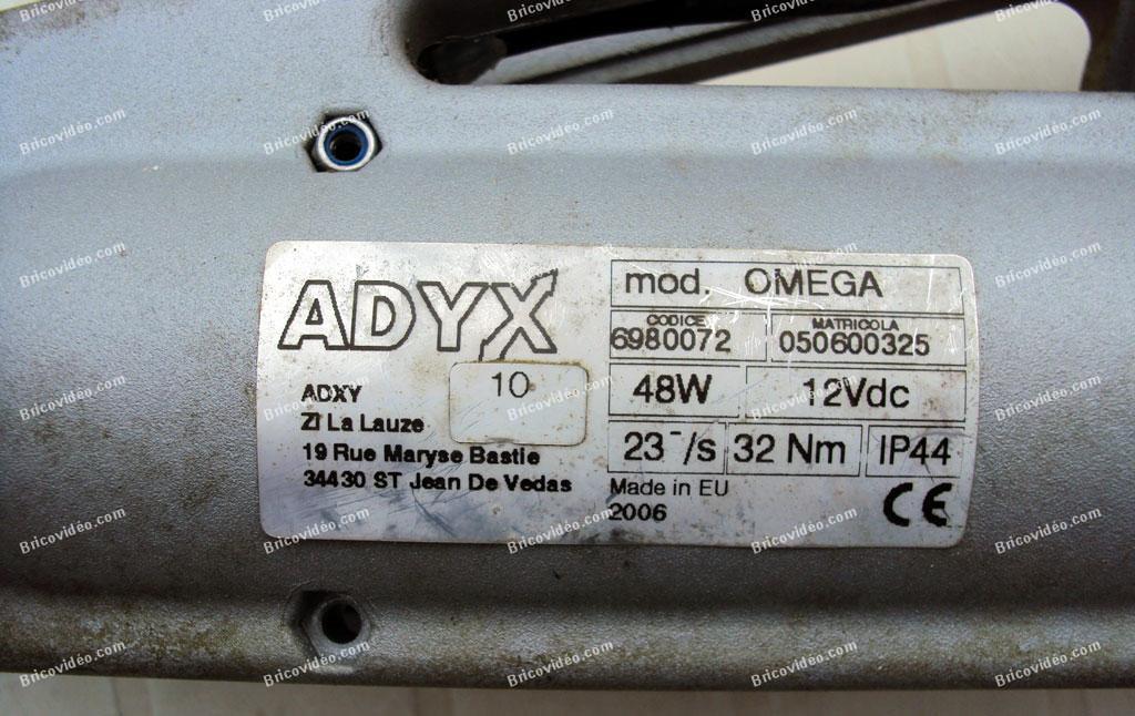 panne motorisation de portail Adyx