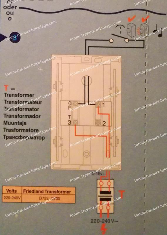 problème branchement carillon filaire