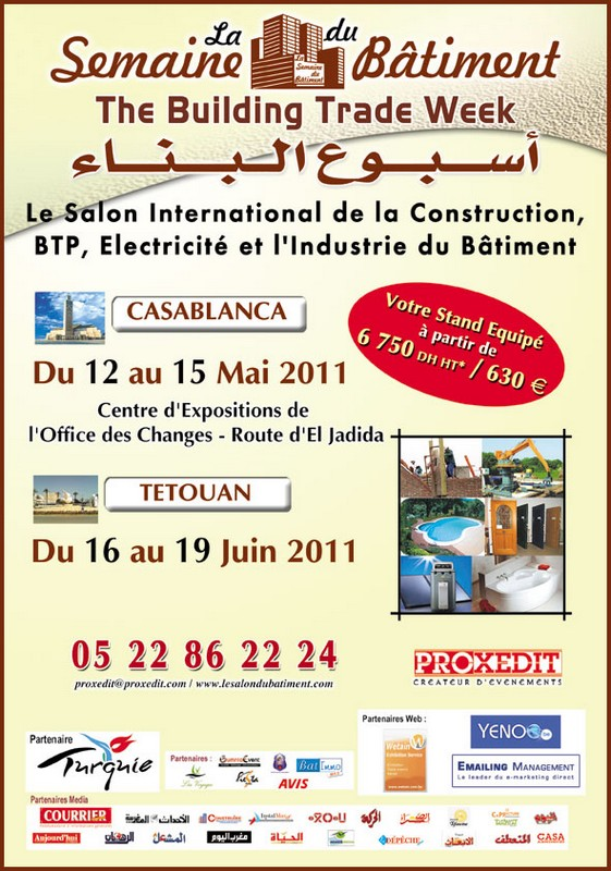 Bricoleurs salon construction btp lectricit industrie for Salon du batiment casablanca