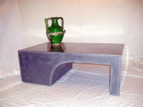 Simple lavabo table zinc with plaque de zinc pour for Recouvrir une table de zinc